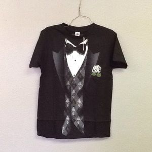 Other - Hybrid Black Tie & Argyle Vest T-Shirt S